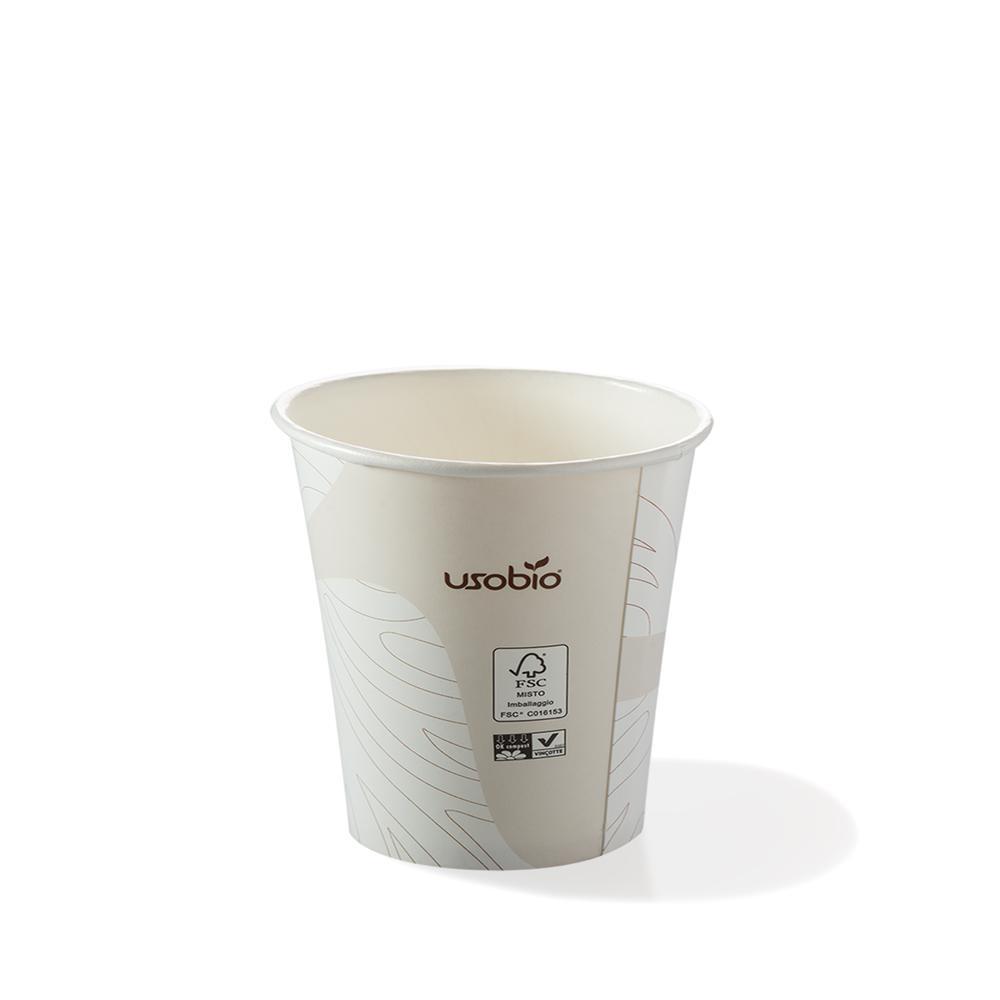 Bicchieri biodegradabili cartoncino 120 ml caff espresso for Bicchieri caffe