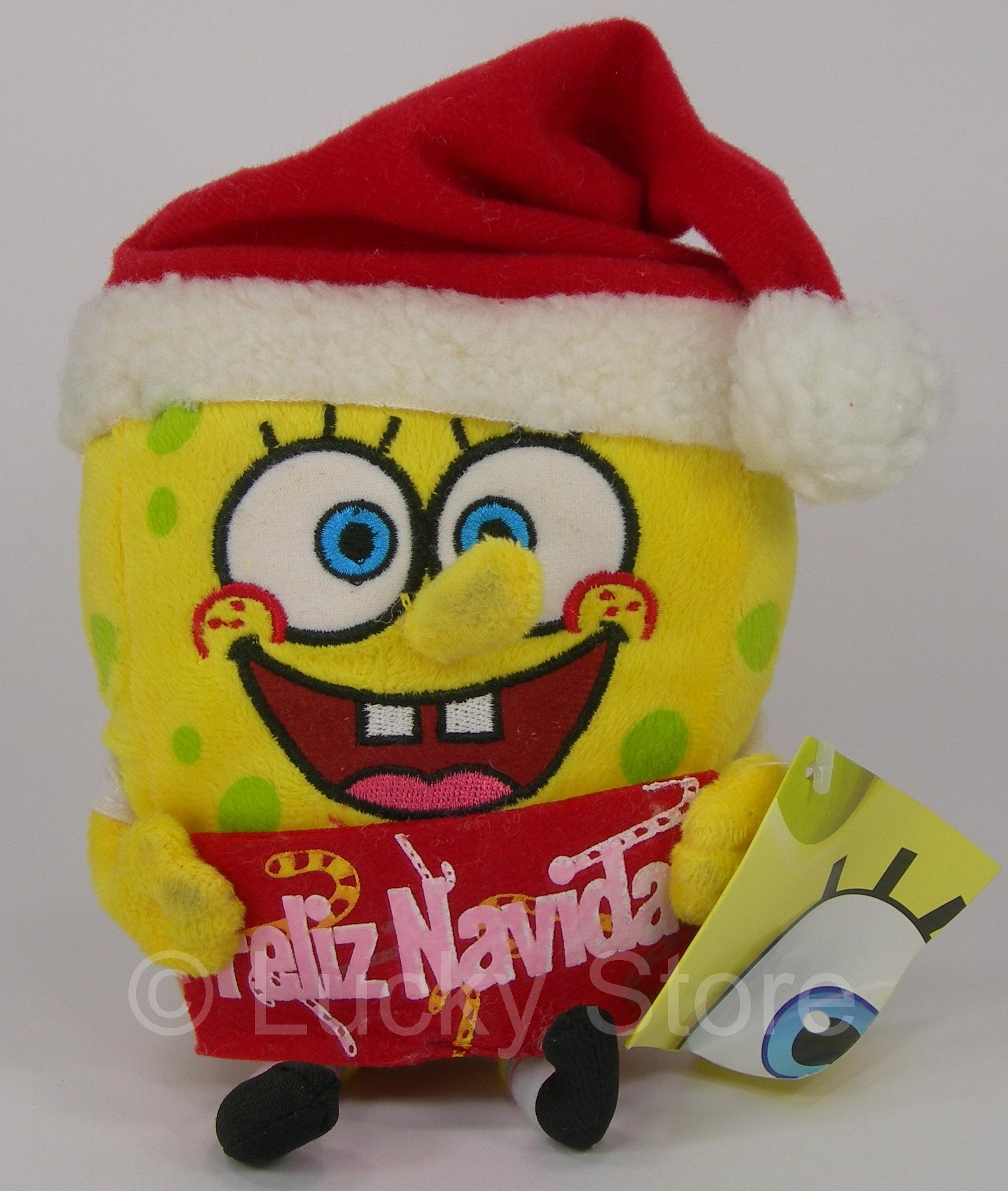 Spongebob Natale peluche 20 cm con ventosa Originale Squarepants