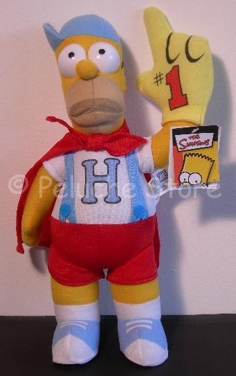 Simpson Homer tifoso peluche 35 cm Mascotte The Simpsons Originale