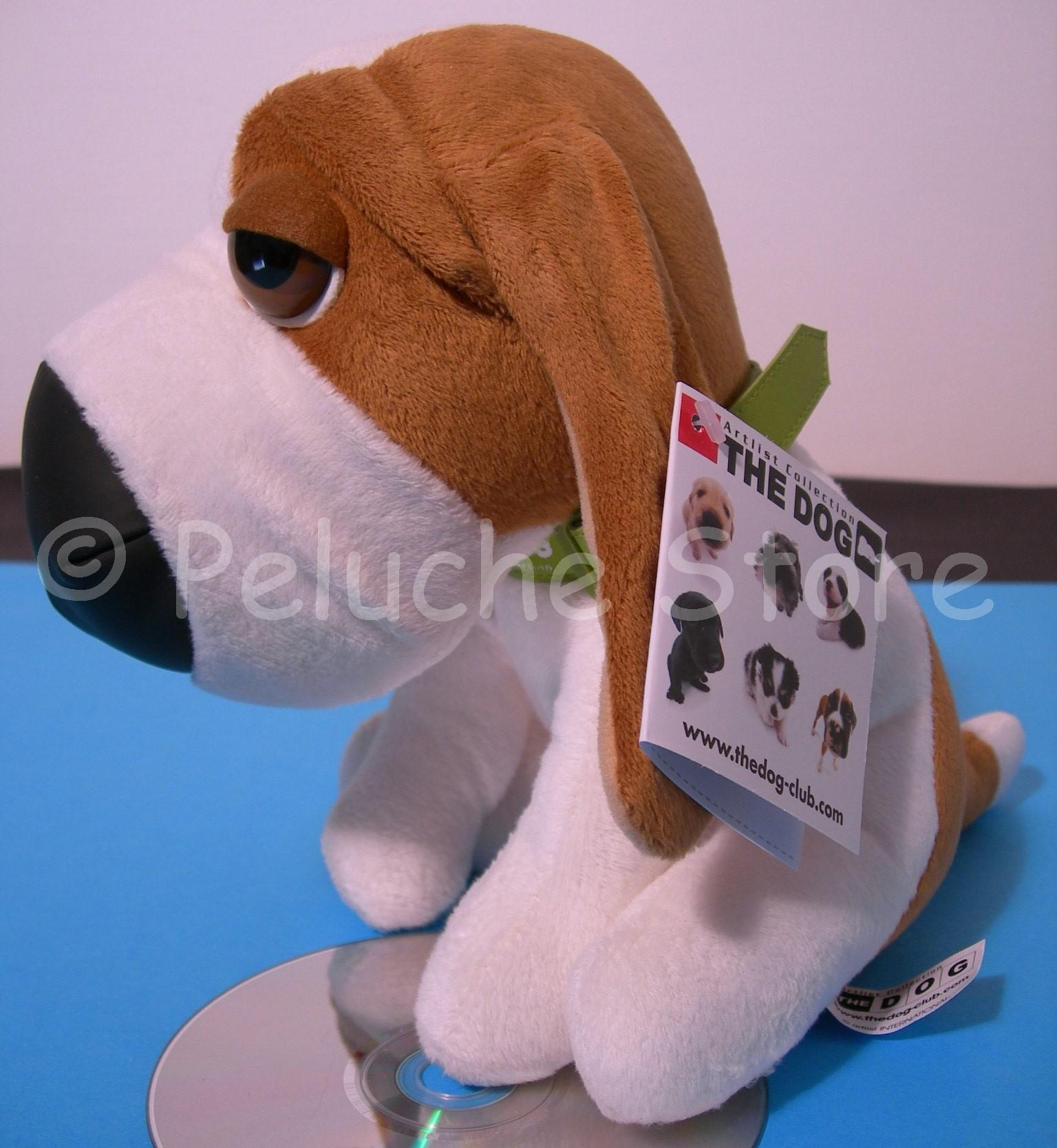 The Dog peluche 25 cm collare Bulldog Border Collie Beagle Dalmata Originale