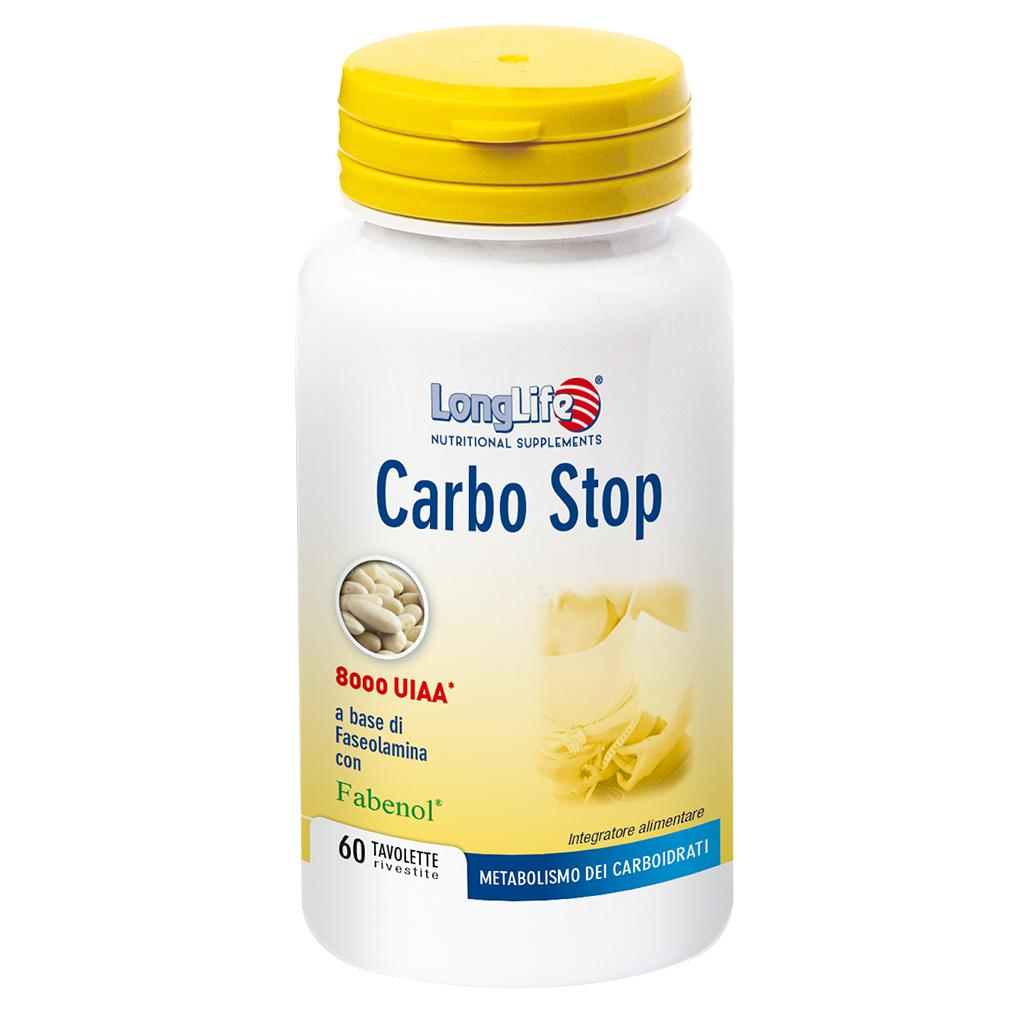 CARBO STOP - INTEGRATORE PER METABOLISMO CARBOIDRATI LONG LIFE