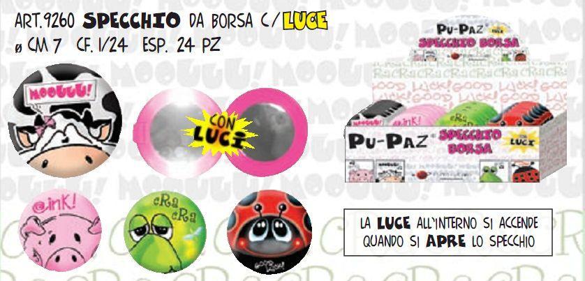 PUPAZ SPECCHIO DA BORSETTA C/LUCE
