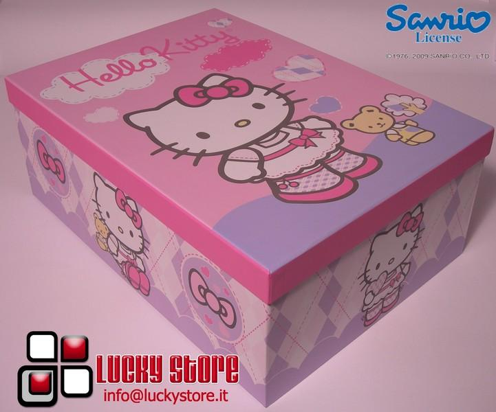 Scatola Hello Kitty orsetto 24x15x10