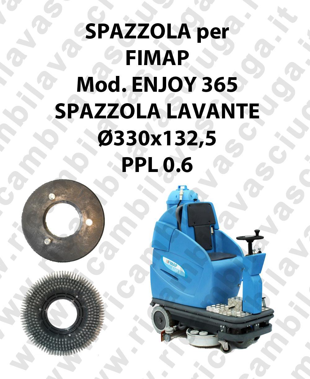 SPAZZOLA LAVARE  per lavapavimenti FIMAP modello ENJOY 365 ø 330 x 132.5 PPL 0.6