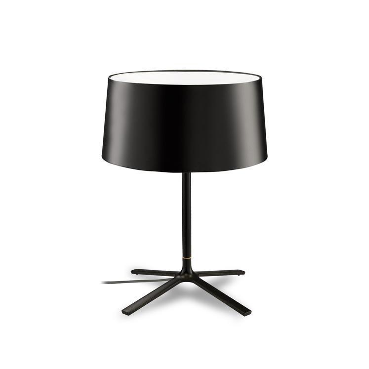 HALL lampada da tavolo acciaio nero