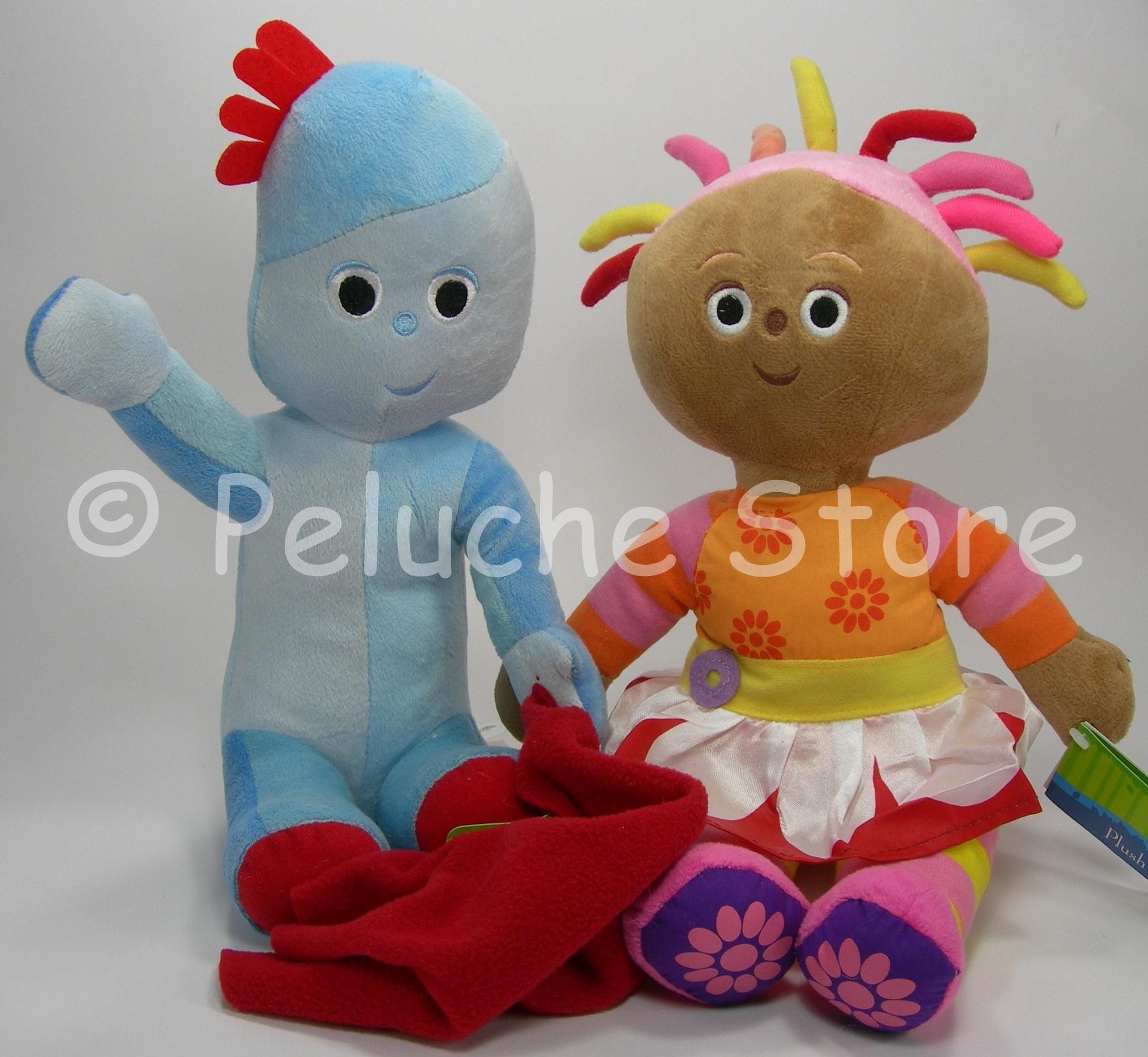 Foresta dei Sogni Iggle Piggle Upsy Daisy coppia peluche 30 cm velluto