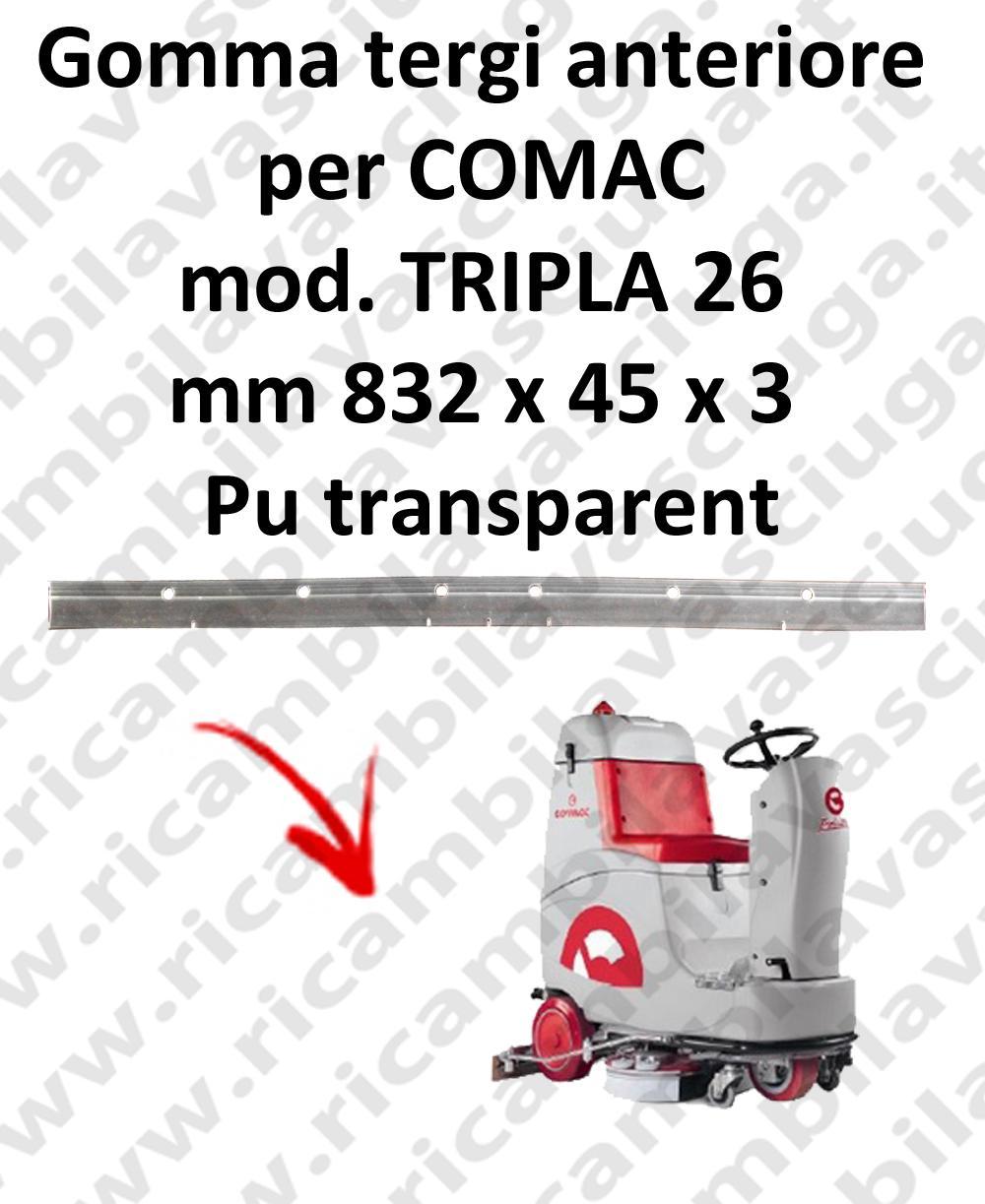 TRIPLA 26 -  GOMMA TERGIPAVIMENTO anteriore per COMAC