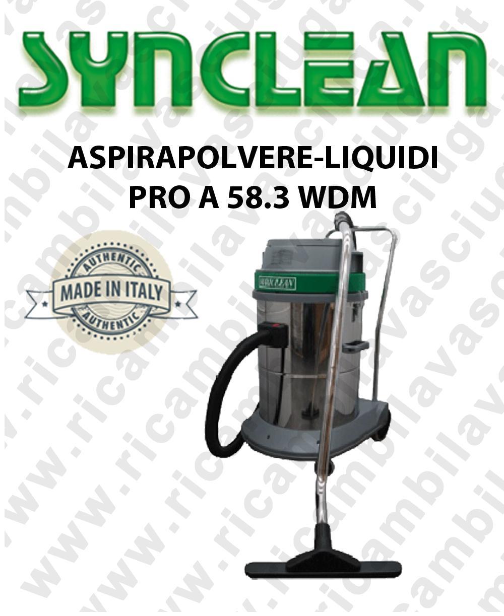MAXICLEAN PRO A 58.3 WDM aspirapolvere aspiraliquidi SYNCLEAN