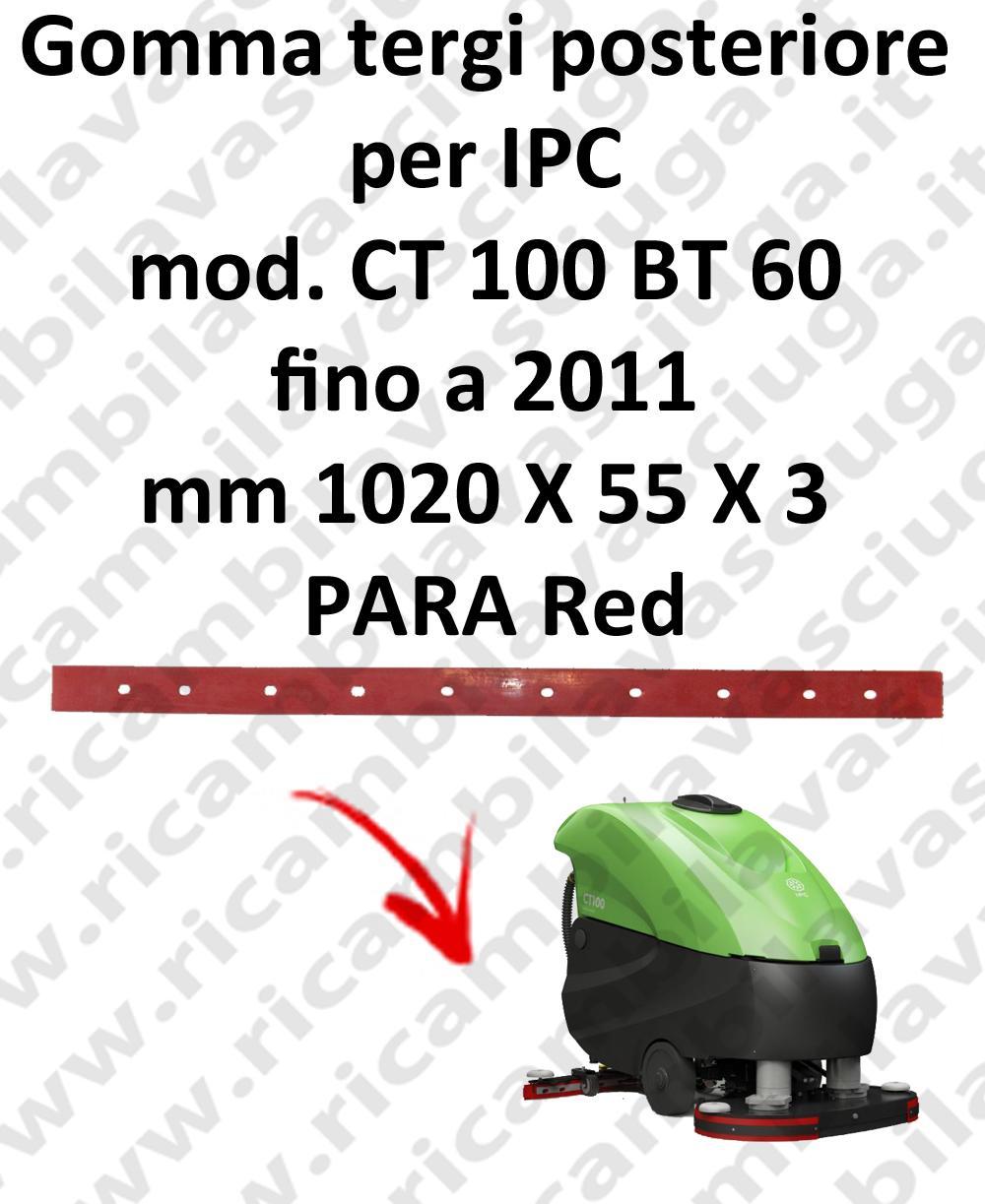 CT 100 BT 60 fino a 2011 - GOMMA TERGI posteriore per lavapavimenti IPC