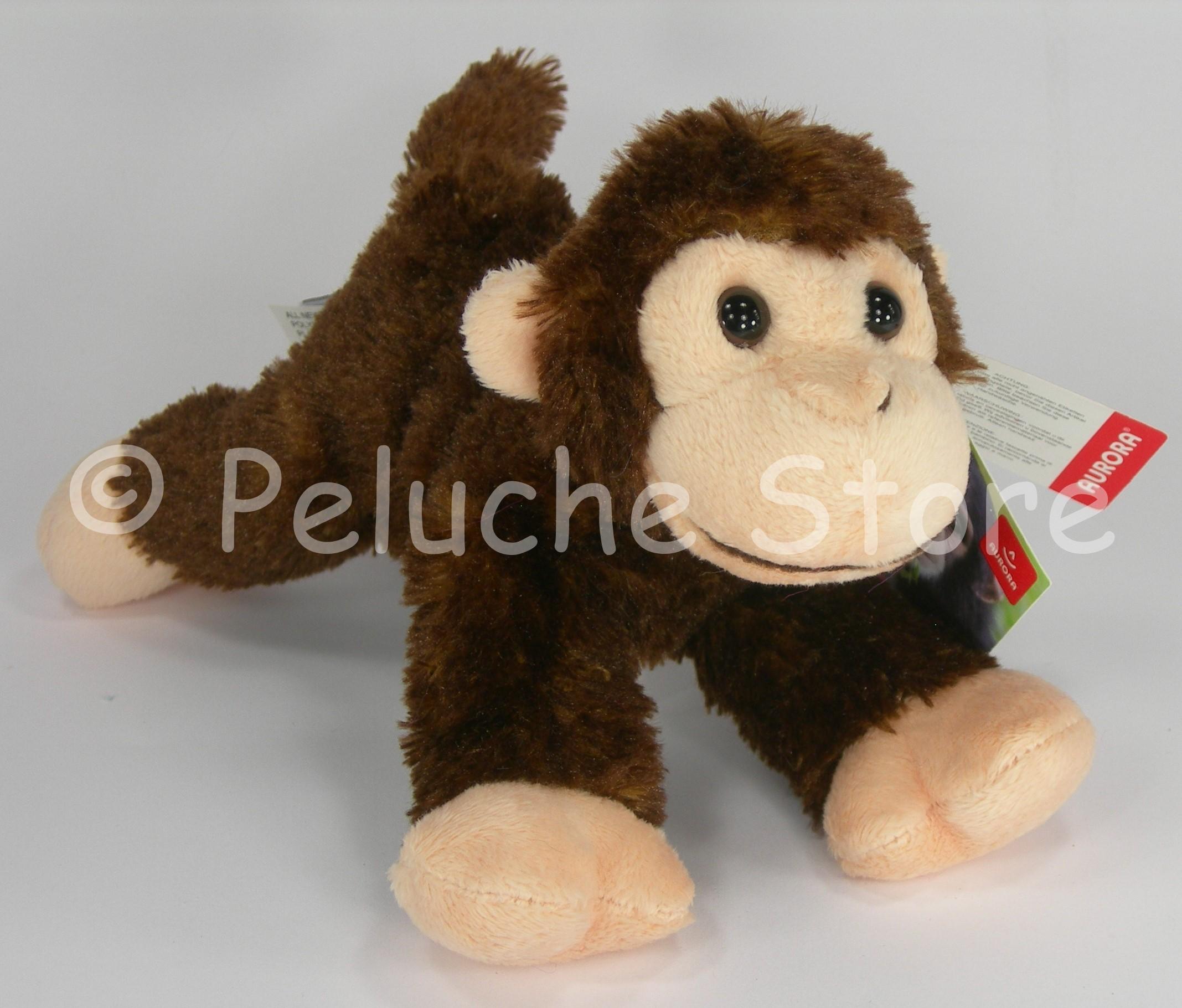 Aurora Baby Scimmia peluche 20 cm qualità extra Originale