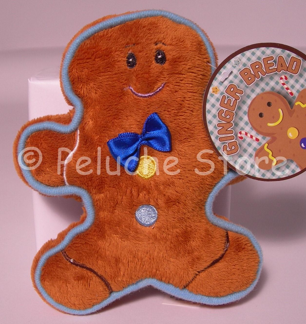 Ginger Bread omino pan di zenzero biscottino peluche 15 cm velluto