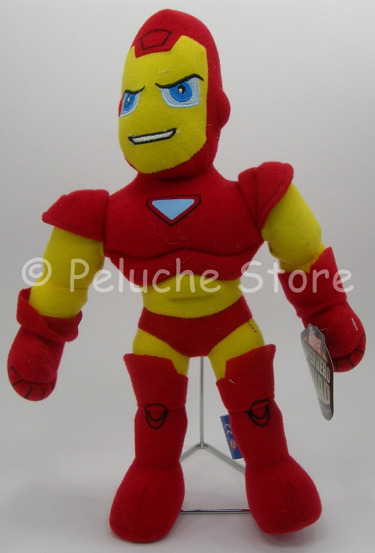 Marvel Super Heroes Squad peluche 30 cm Spiderman Wolverine Thor Capitan America