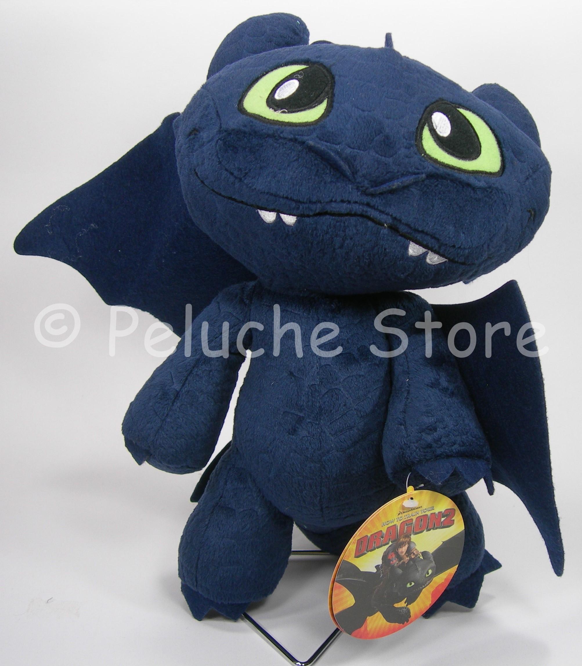 Dragon Trainer 2 peluche 30 cm Toothless Furia Buia Tagliatempeste Zannacurva