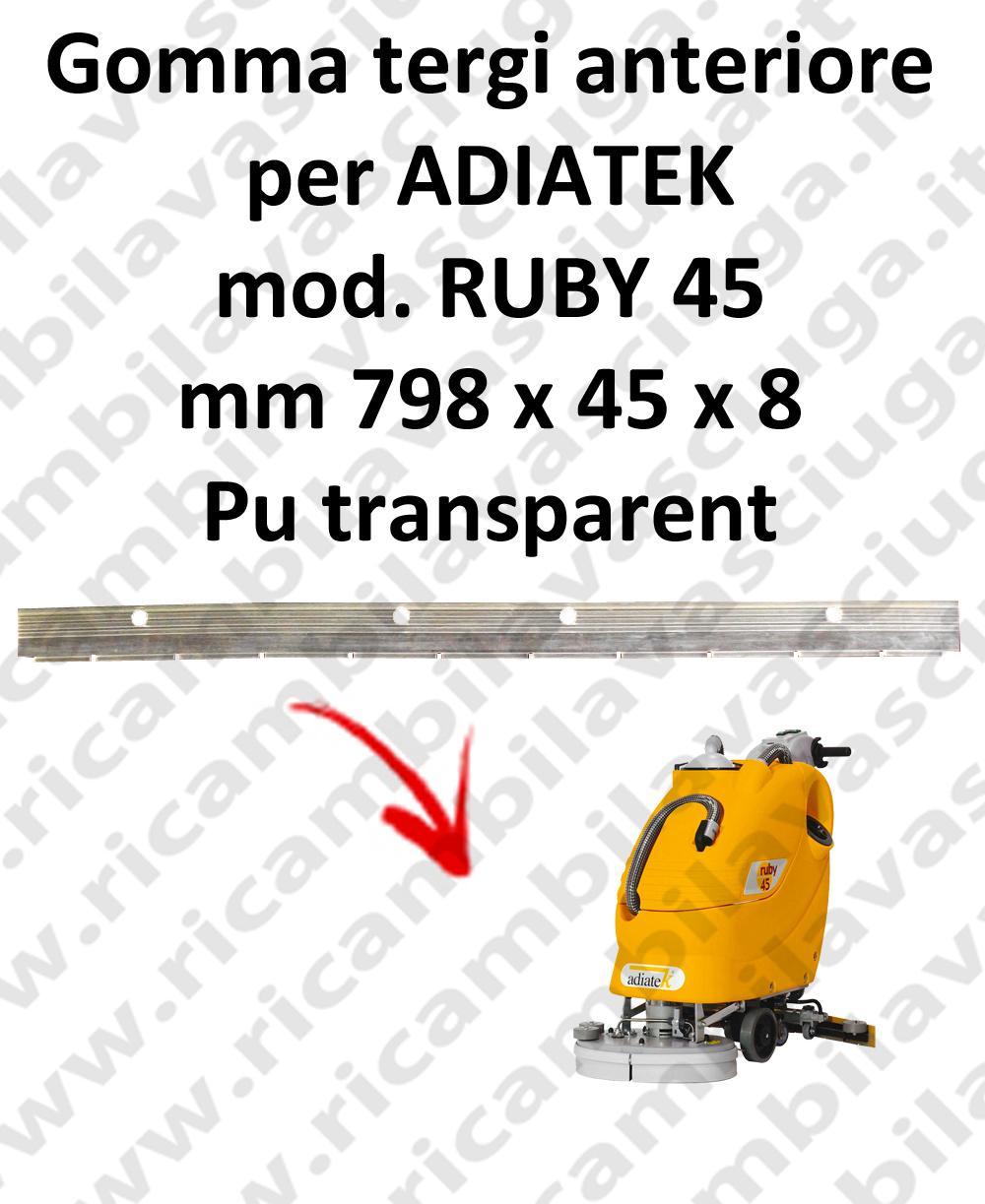 RUBY 45 - GOMMA TERGI anteriore per lavapavimenti ADIATEK