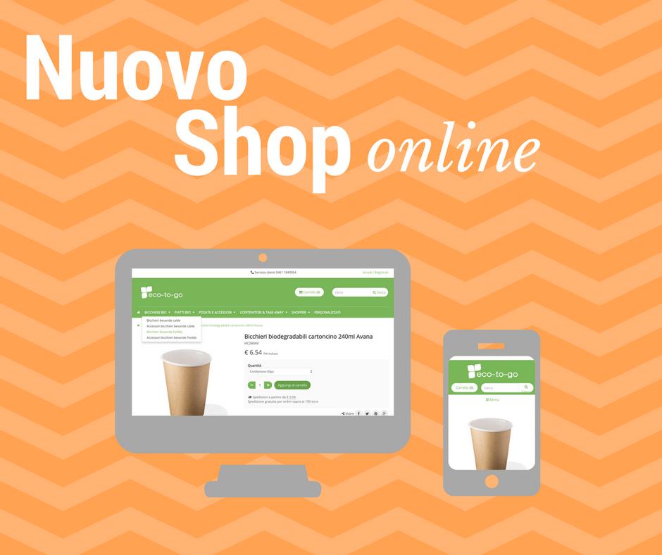 281b852f11fb Finalmente online il nostro nuovo negozio online ecotogo.it per acquistare  stoviglie monouso e food packaging eco-sostenibili direttamente online