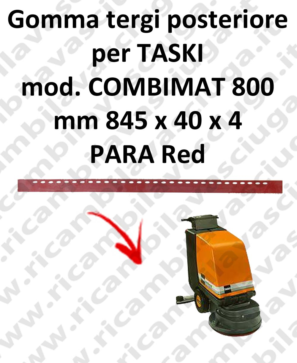 COMBIMAT 800 - GOMMA TERGI posteriore per lavapavimenti TASKI