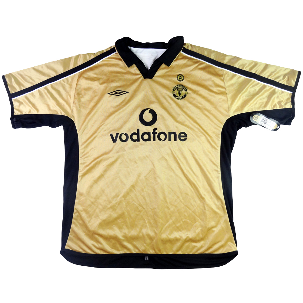 2001-02 Manchester United Maglia Away Centenario XXL *CARTELLINO (Top)