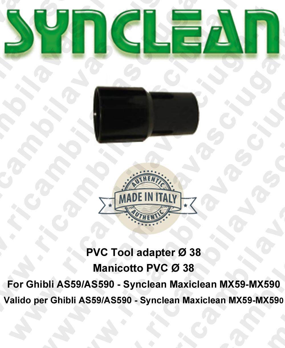Manicotto per tubo aspirazione PVC Ø 38 valido per aspirapolvere Ghibli AS59 - AS590 - Synclean MX59 - MX590