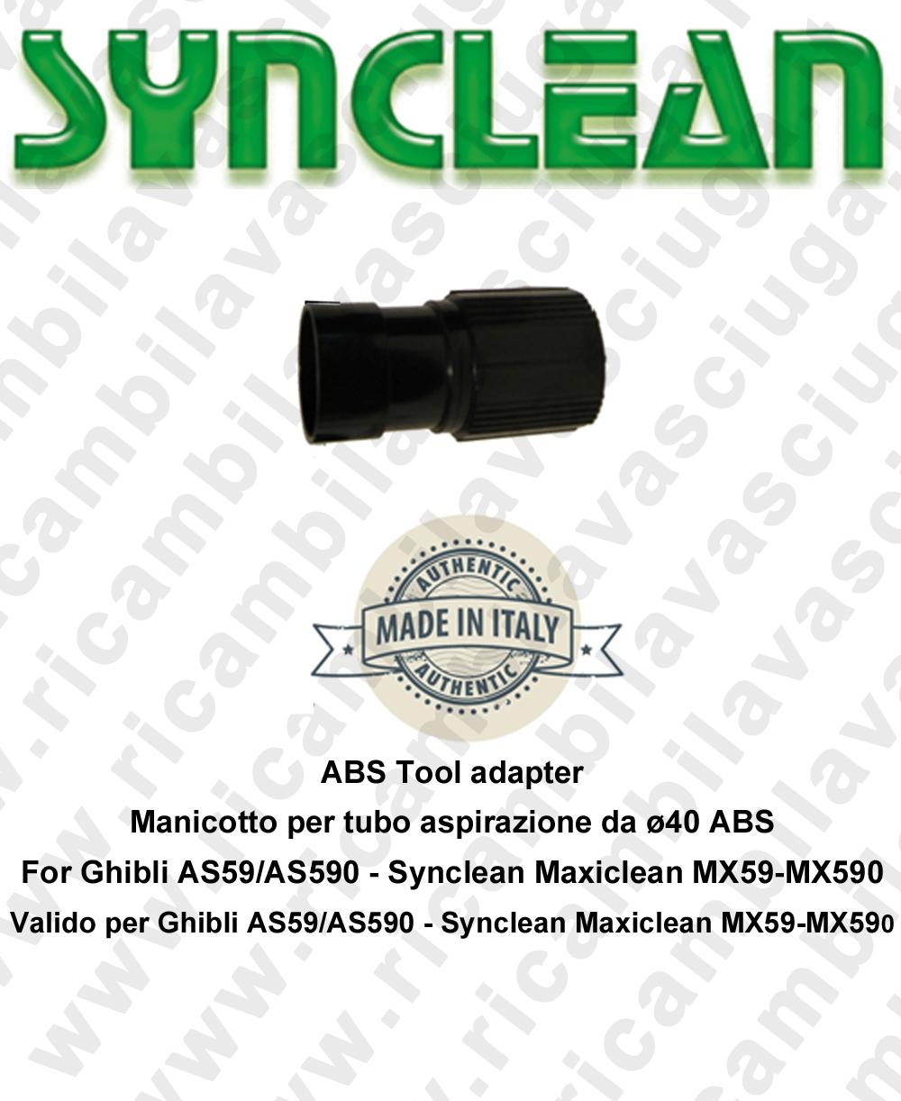 Manicotto per tubo aspirazione da D40 ABS valido per Ghibli AS59 - AS590 - Synclean MX59 - MX590