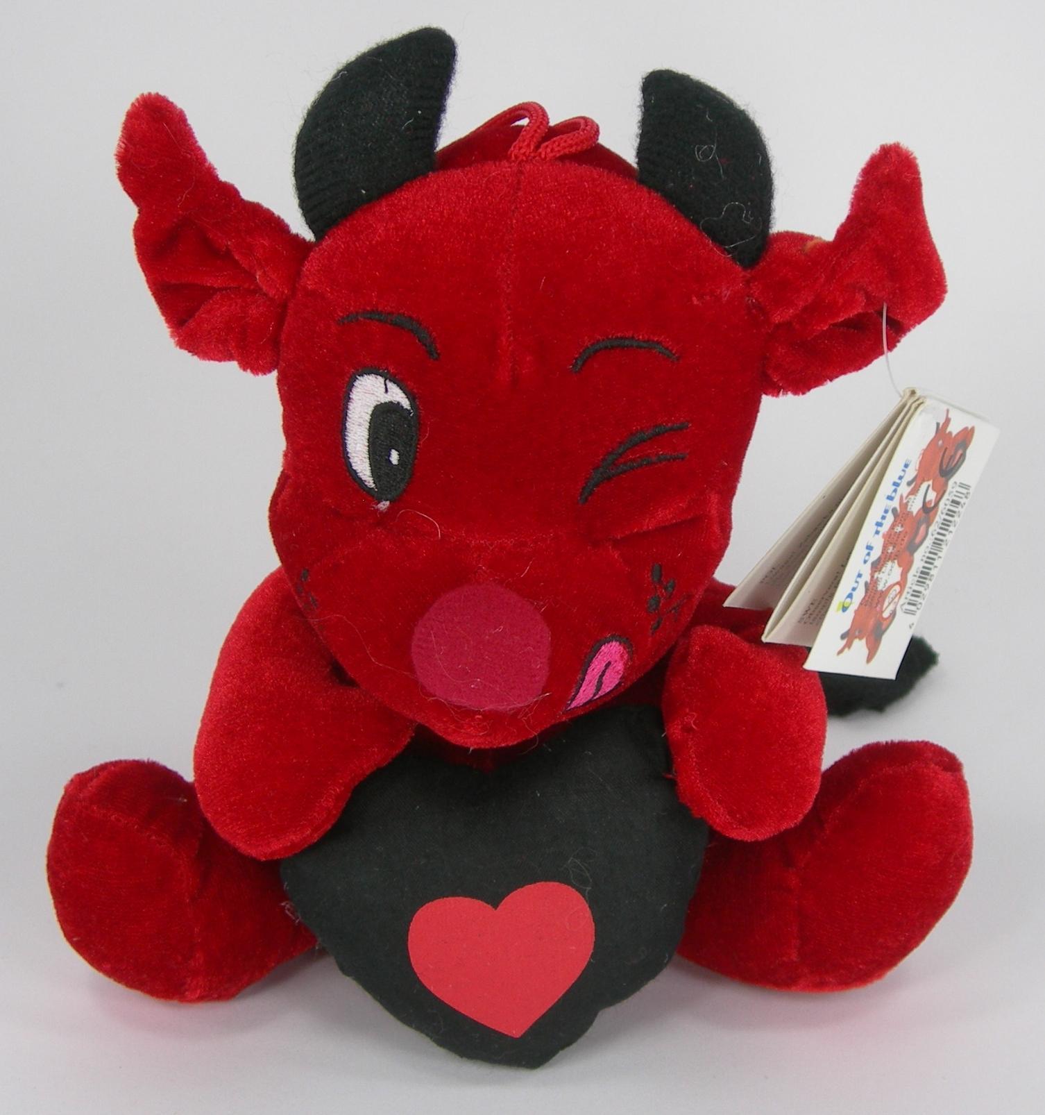 Diavoletto peluche con cuore 20 cm Qualità Velluto San Valentino Amore
