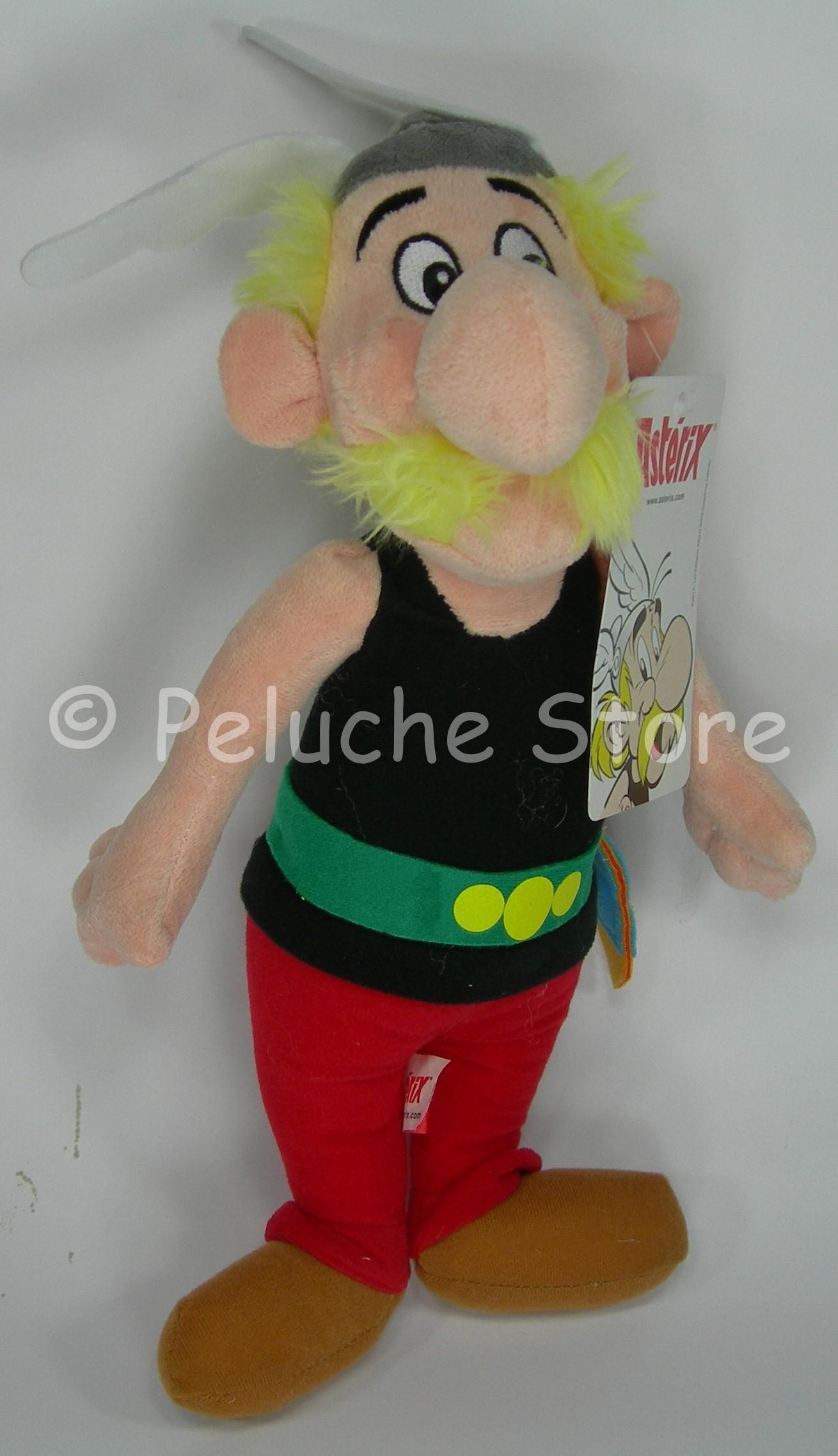 Asterix Obelix Idefix peluche 35 cm Qualità Velluto Originale