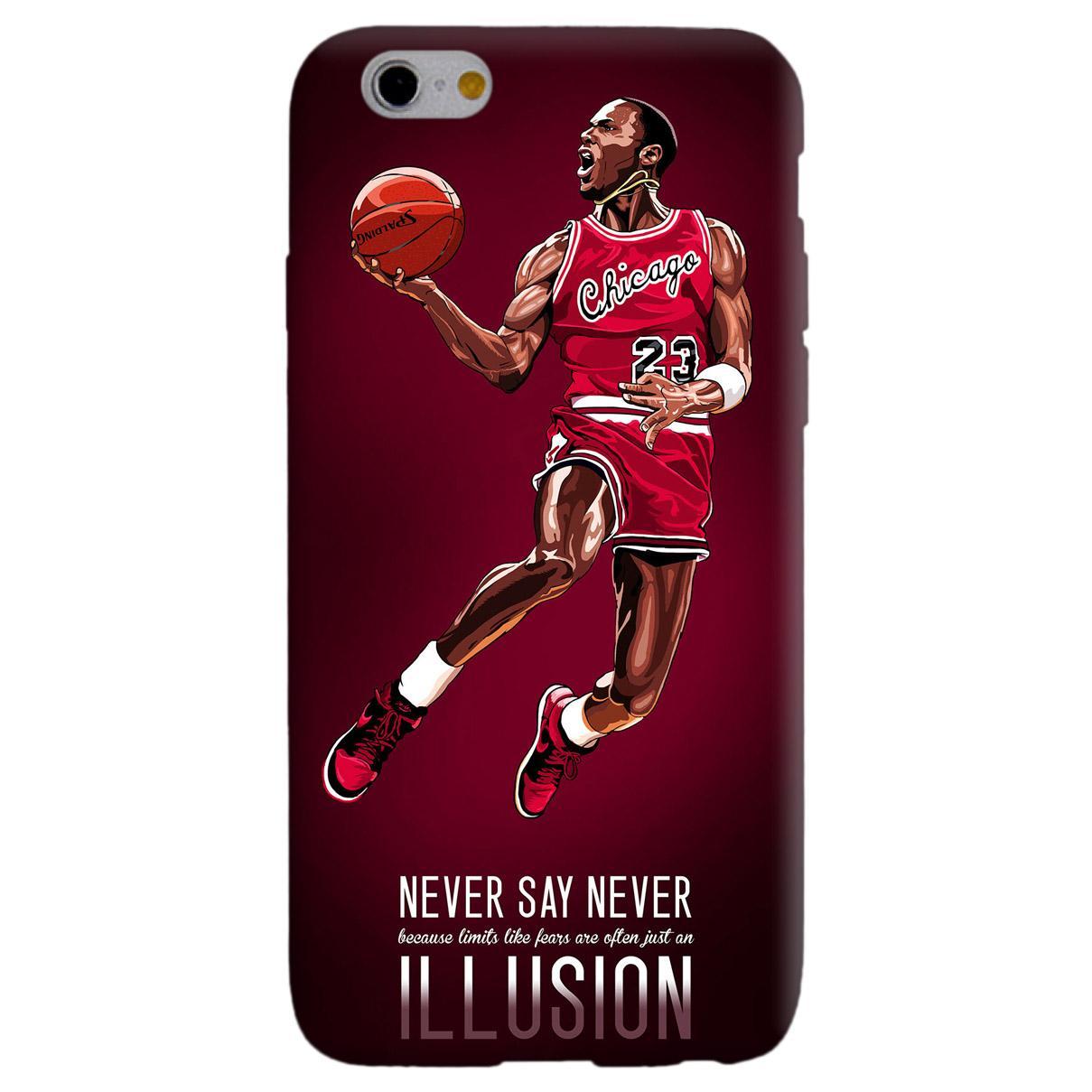 JORDAN NEVER SAY NEVER cover per iphone