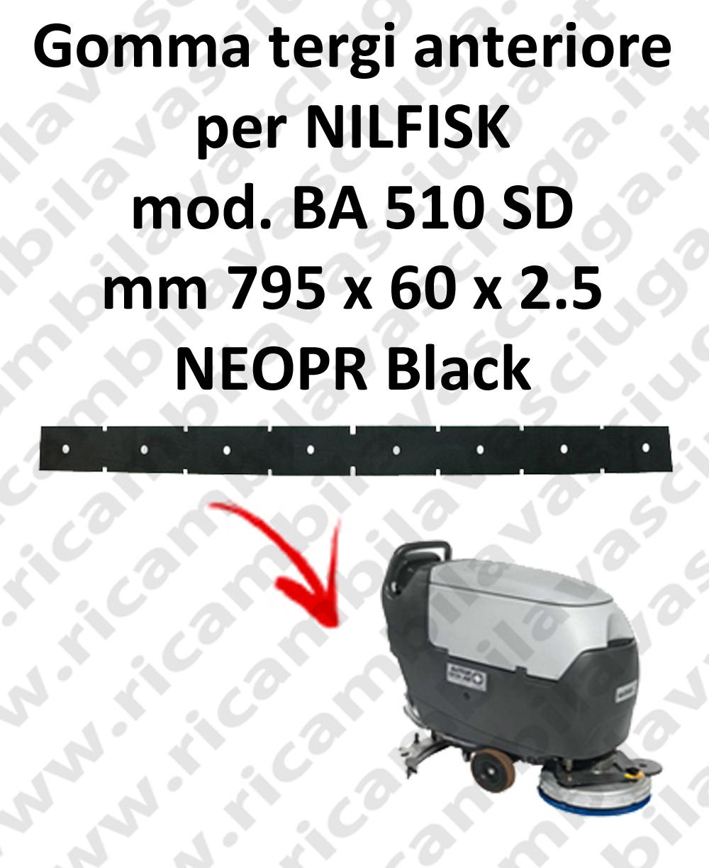 BA 510 SD - GOMMA TERGI anteriore per lavapavimenti Nilfisk