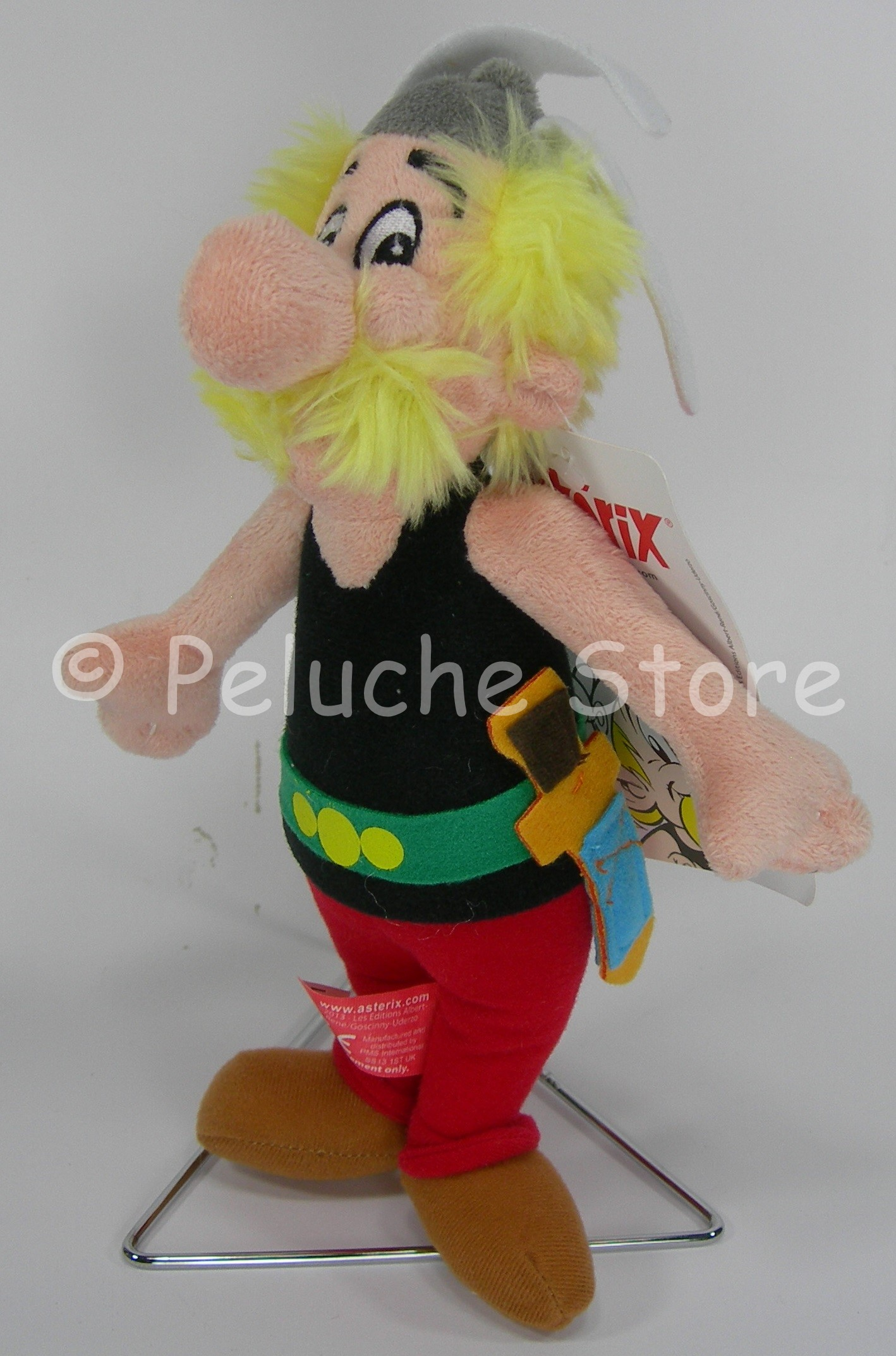 Asterix e Obelix Idefix  peluche 25 cm Originale Qualità Velluto