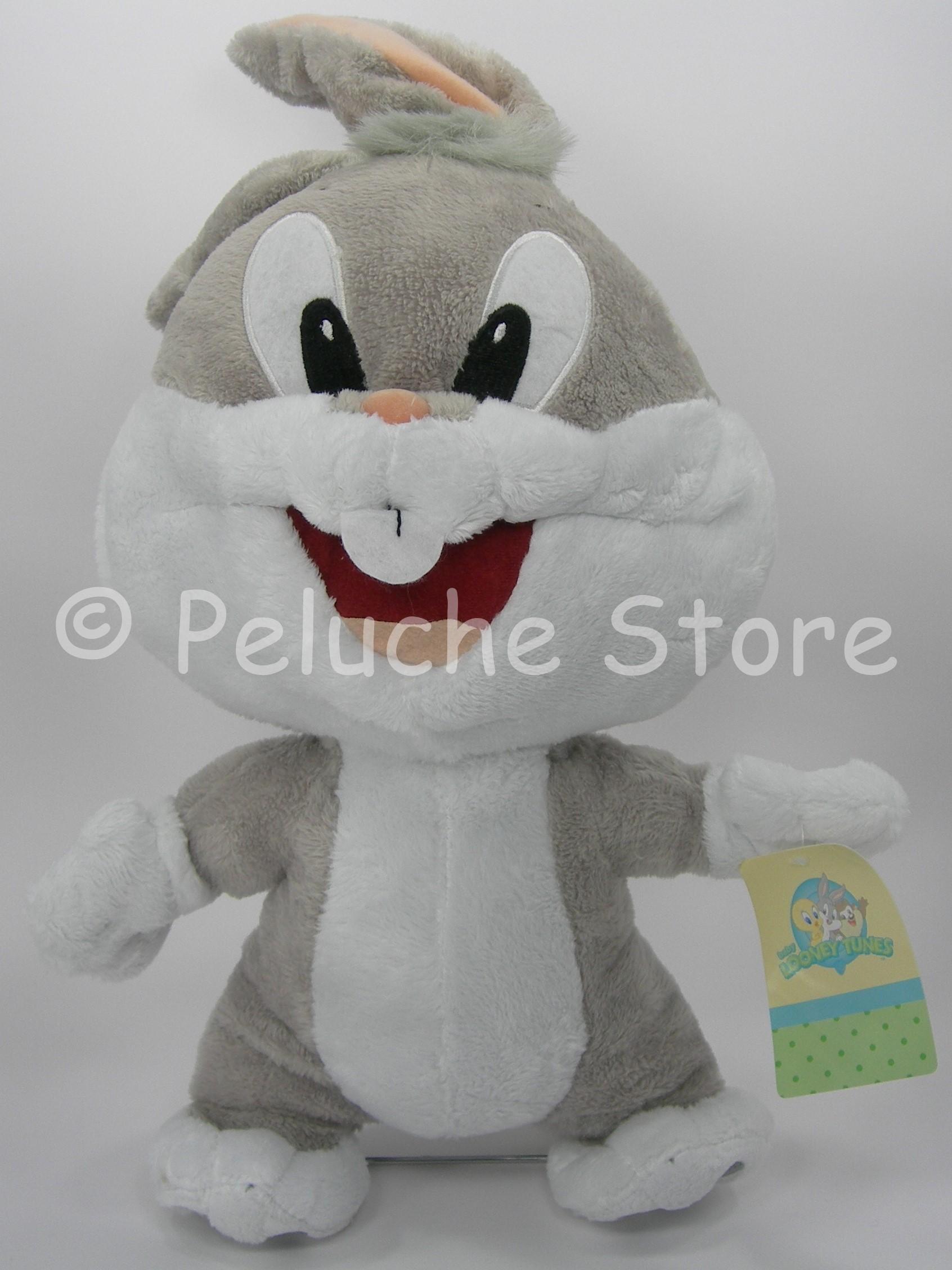 Baby Looney Tunes Bugs Bunny Peluche 35 cm velluto Coniglio Originale