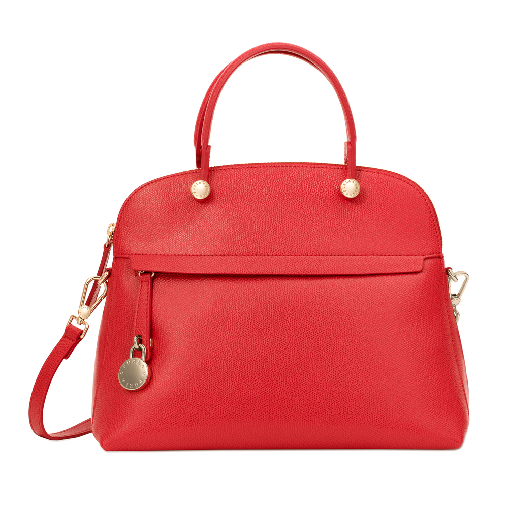 Hand And Shoulder Bag Furla Piper 793805 Ruby Laborsetteriacom Dome Small Onyx Authentic