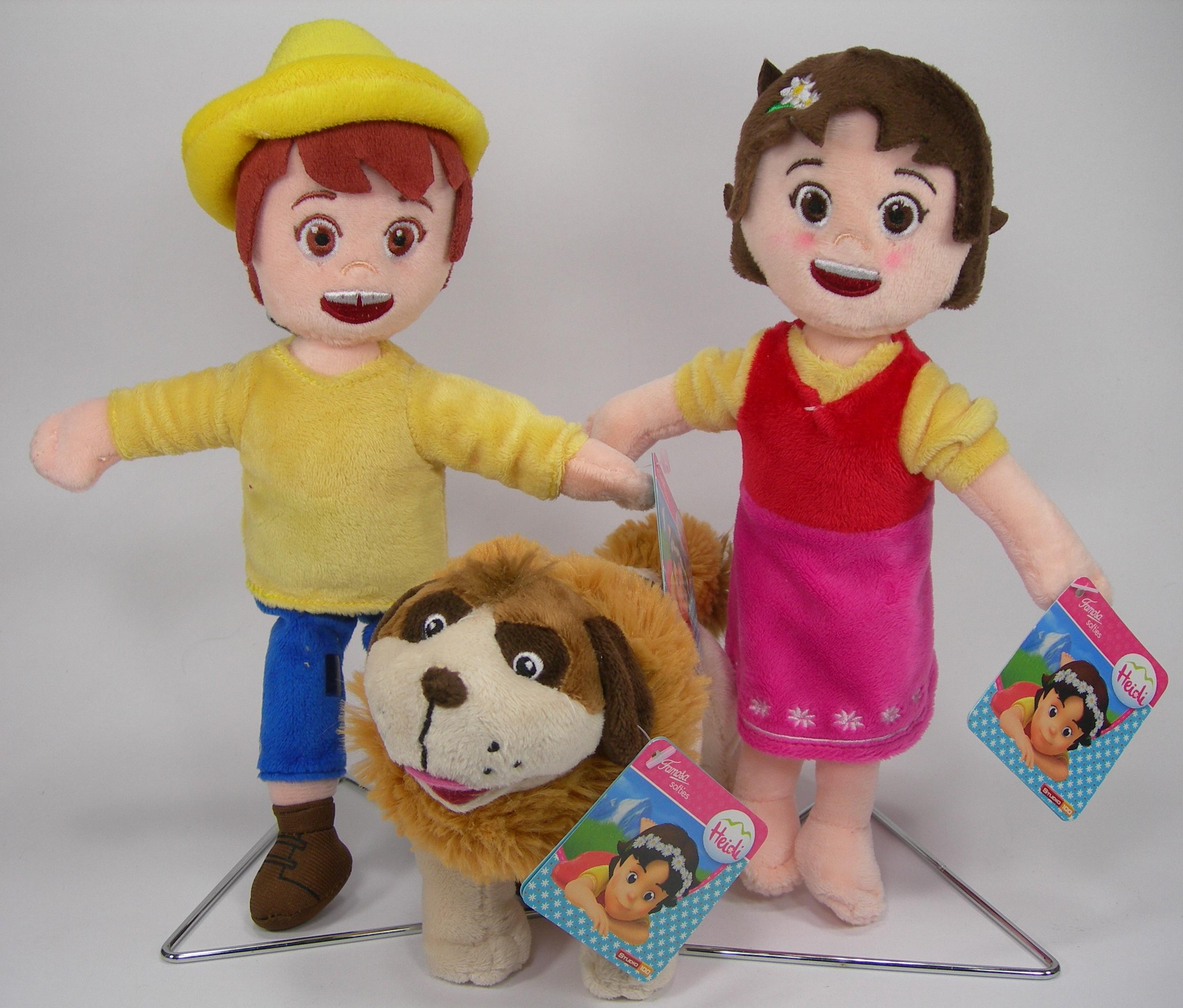 Heidi e amici peluche 25 cm Qualità velluto Nebbia Peter Originale