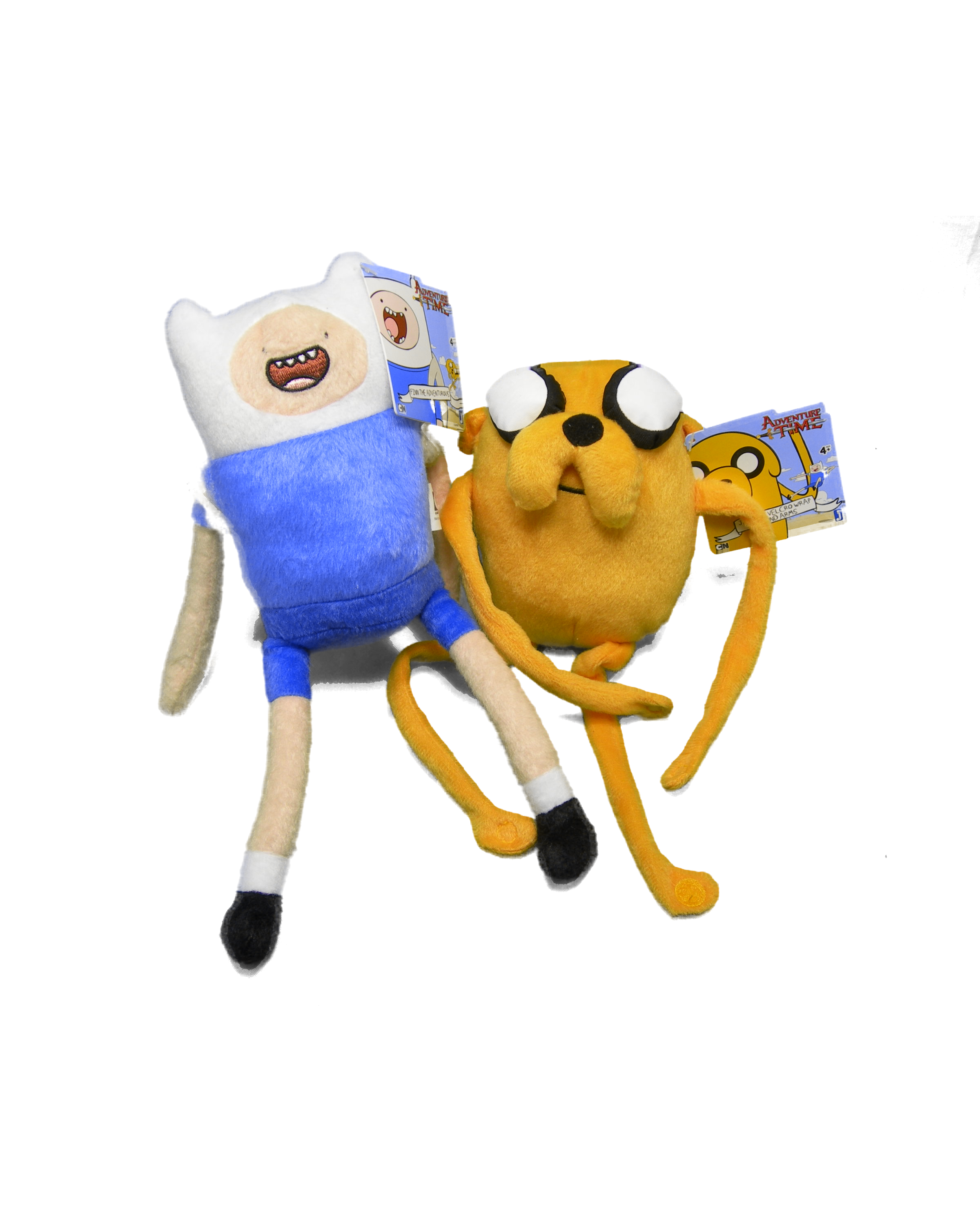 Adventure Time Finn & Jake coppia peluche 25 cm Originale