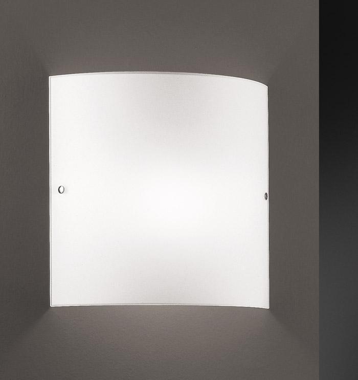Applique VELINA LED vetro bianco 30x30 |10watt
