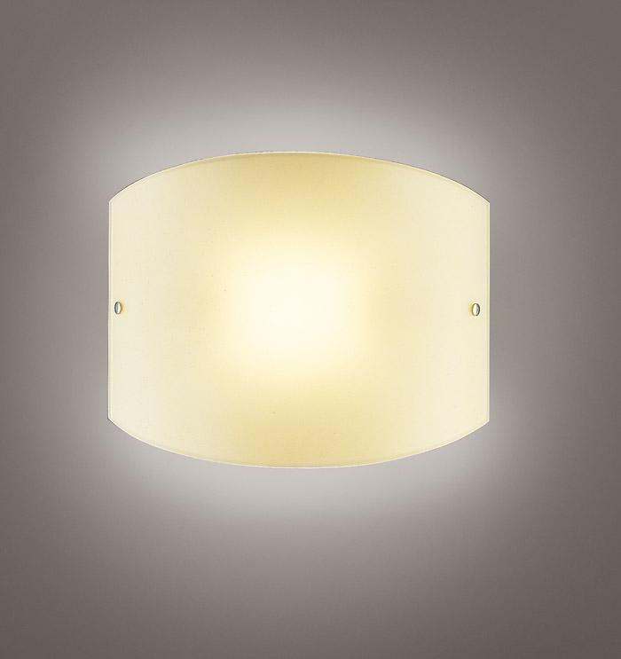 Applique VELINA 2 LED in vetro bianco o ambra 24x30 | 10watt