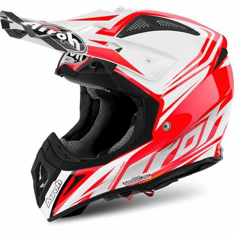CASCO MOTO CROSS AIROH AVIATOR 2.2 READY RED GLOSS AV22RD55