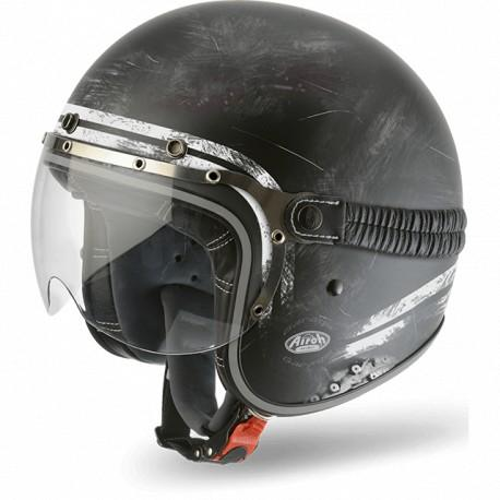 CASCO MOTO AIROH JET GARAGE RAW MATT GARA35