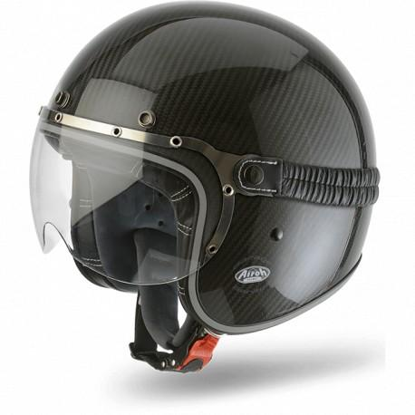 CASCO MOTO AIROH JET GARAGE CARBON GLOSS GAC17