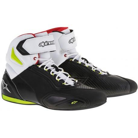 SCARPE MOTO ALPINESTARS FASTER-2 BLACK YELLOW FLUO RED