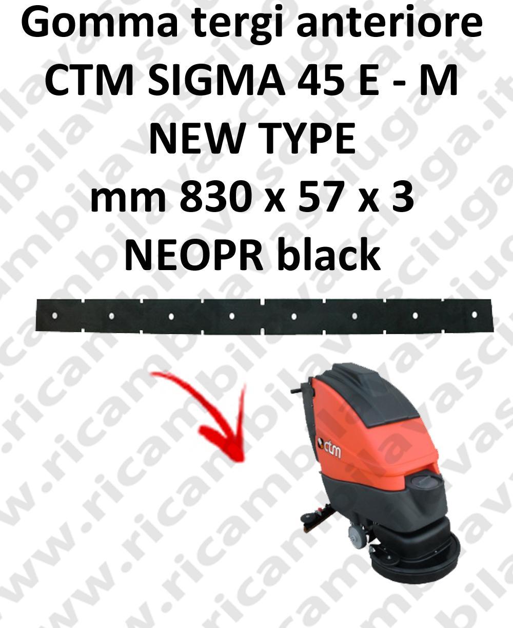 SIGMA 45 E/M new type | GOMMA TERGI anteriore per lavapavimenti CTM