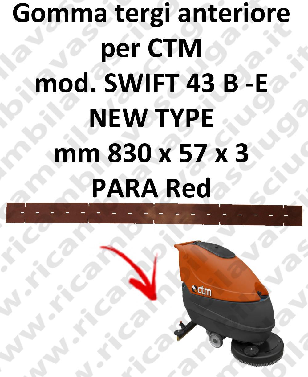 SWIFT 43 B - E new type GOMMA TERGI lavapavimenti anteriore per CTM