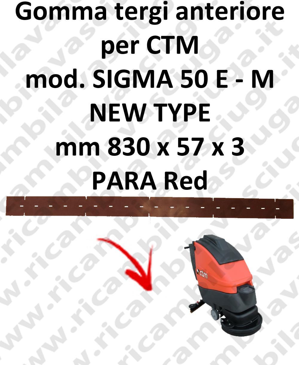 SIGMA 50 E - M new type GOMMA TERGI lavapavimenti anteriore per CTM