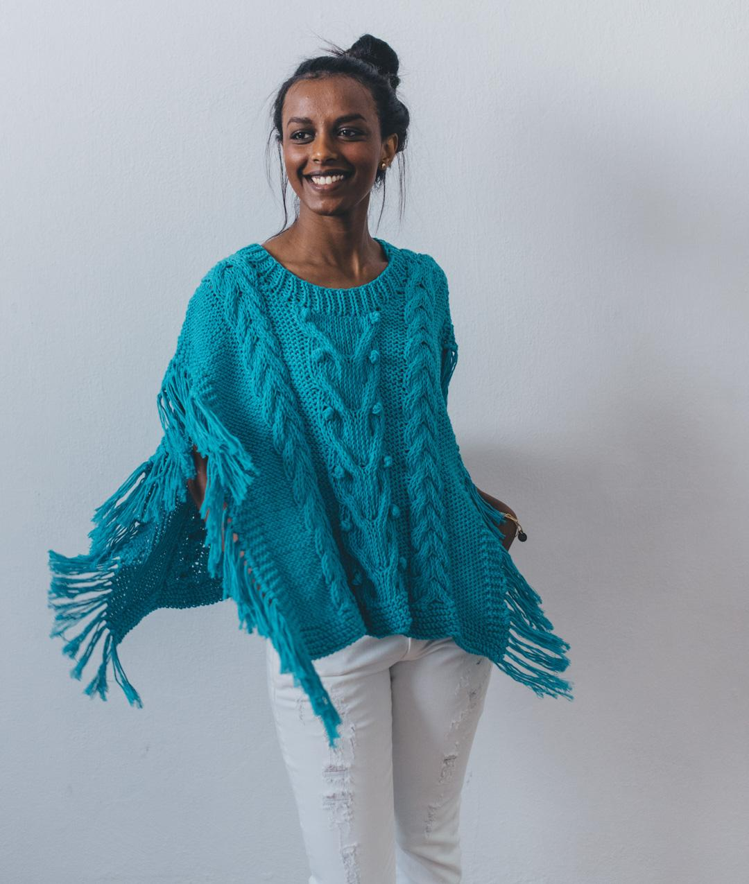 Cardigans and Vests  - Cotton - Cuzco Poncho - 1