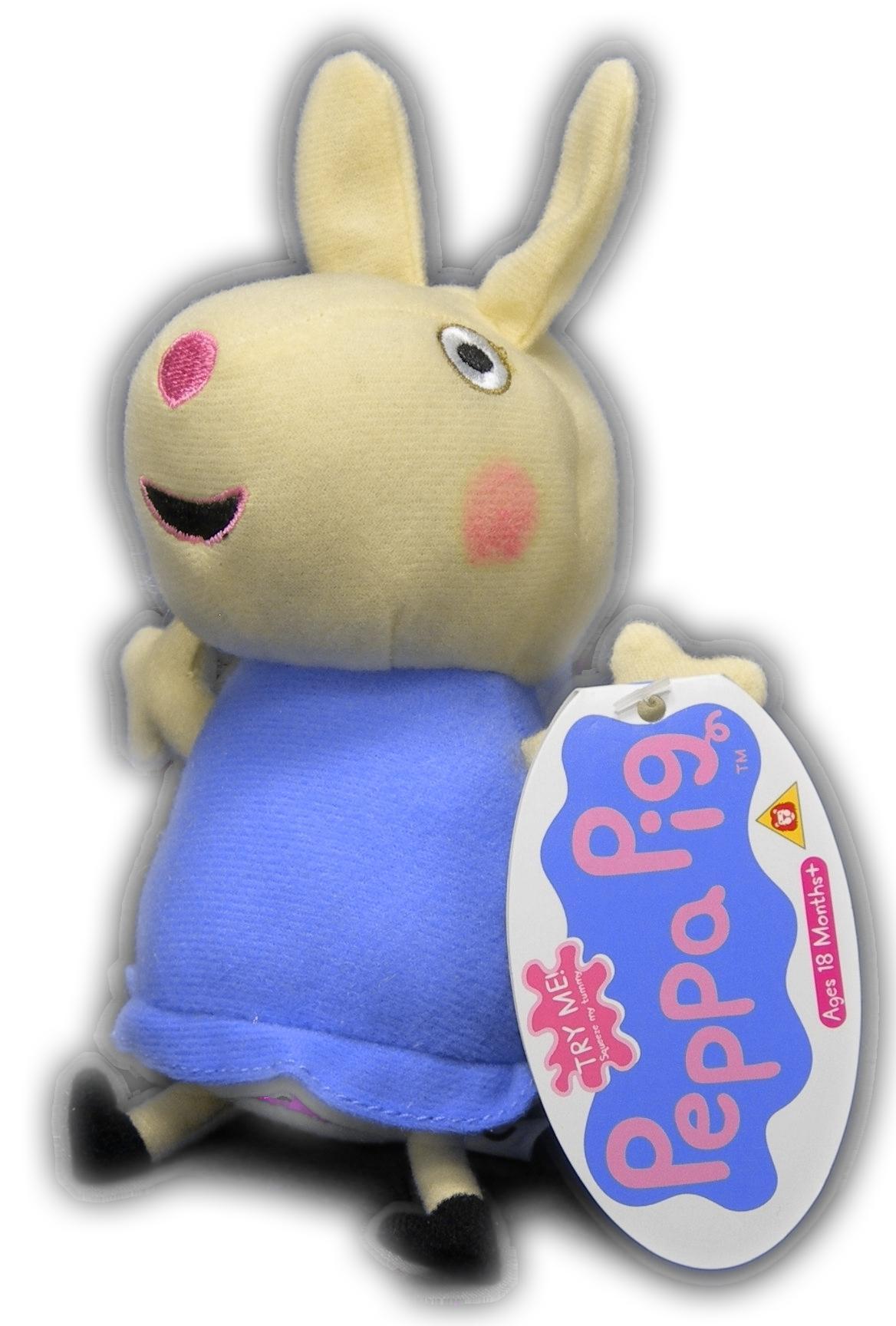 Peppa Pig a amici peluche sonoro 18 cm Originale Parla Suzy Rebecca Originale