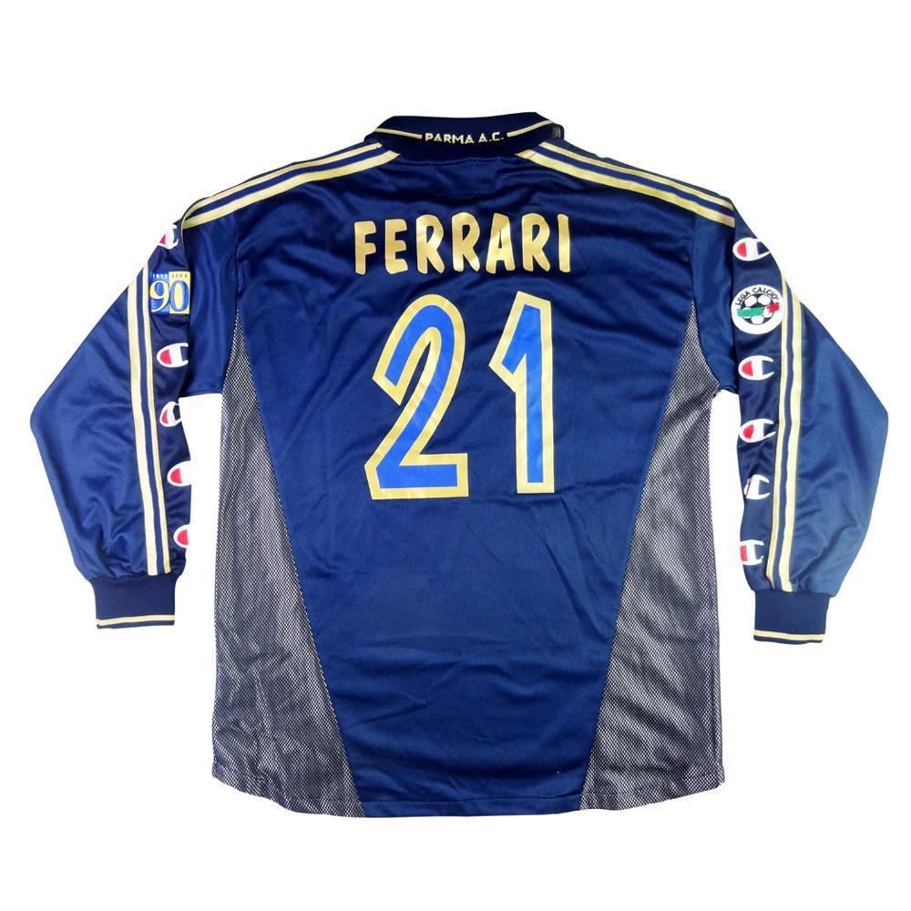 2002-03 Parma Maglia Terza Match Worn #21 Ferrari XL (Top)