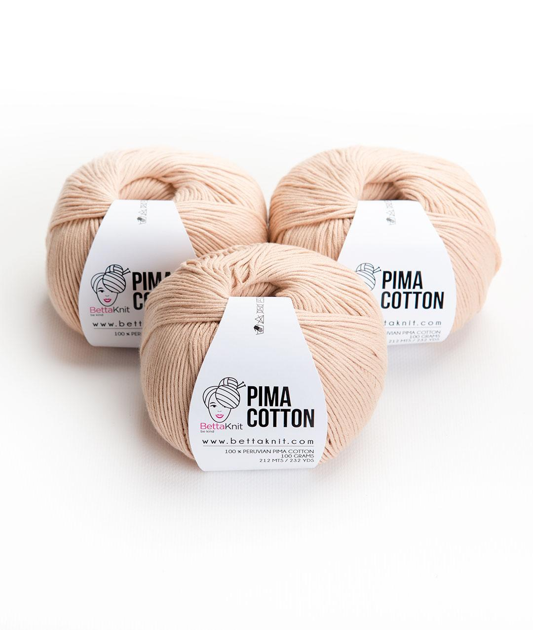 Yarn boxes without Needles  - Pack of Yarn - Pima Cotton Pack - 3 balls - 1