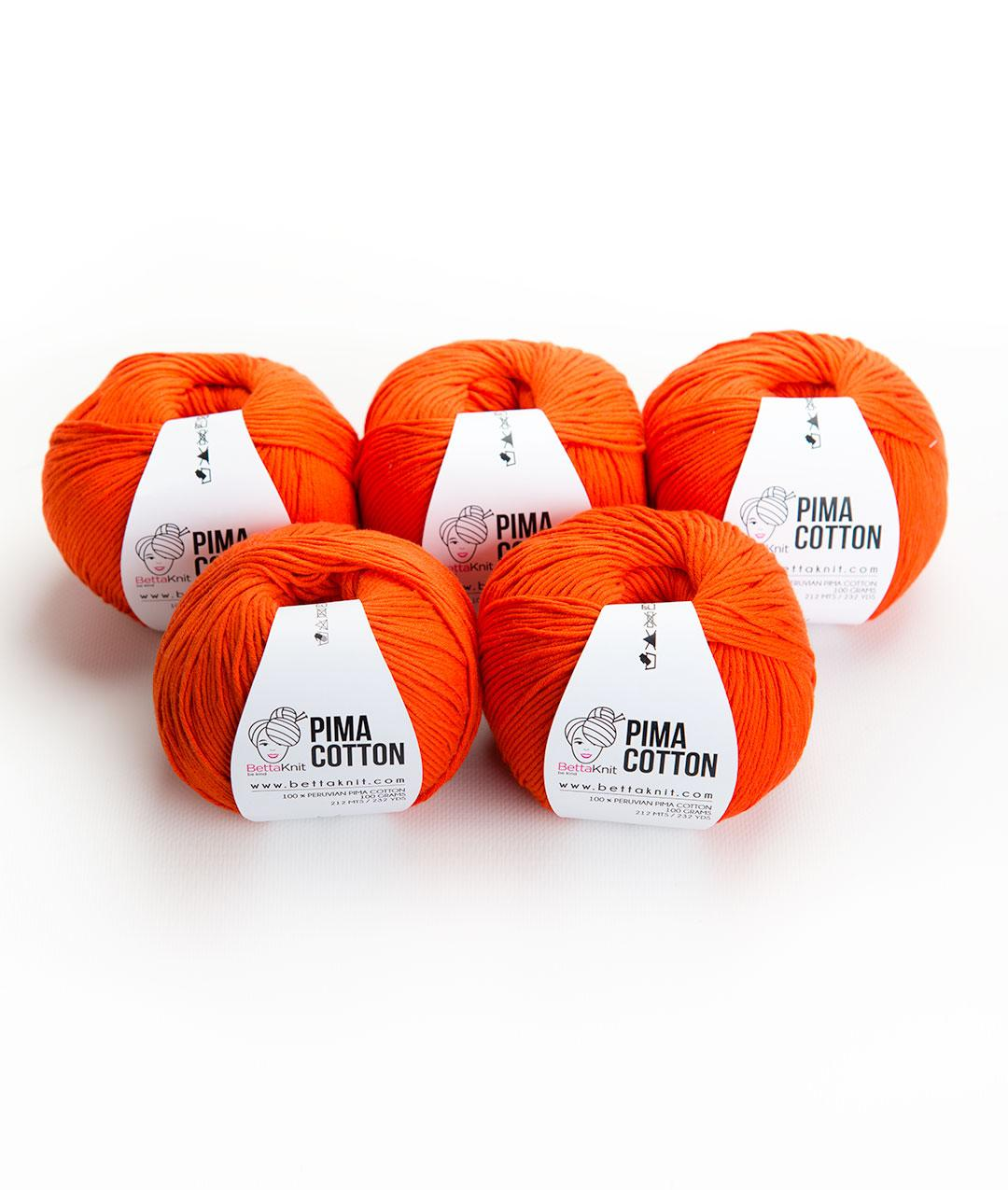 Yarn boxes without Needles  - Pack of YarnYarn boxes without Needles  - Pack of Yarn - Pima Cotton Pack - 5 balls - 1
