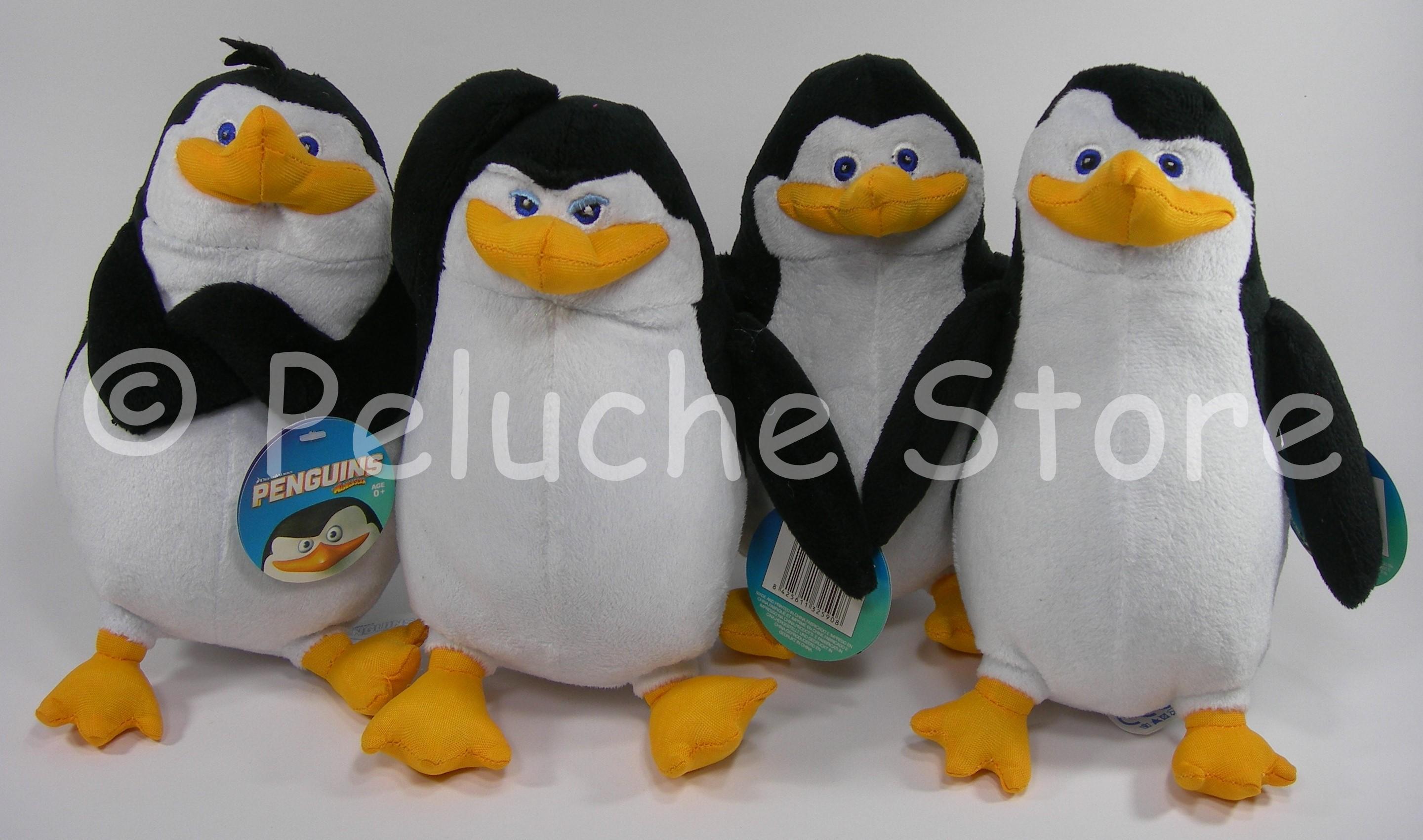 Pinguini di Madagascar peluche 22 cm velluto Rico Kowasky Soldato Skipper