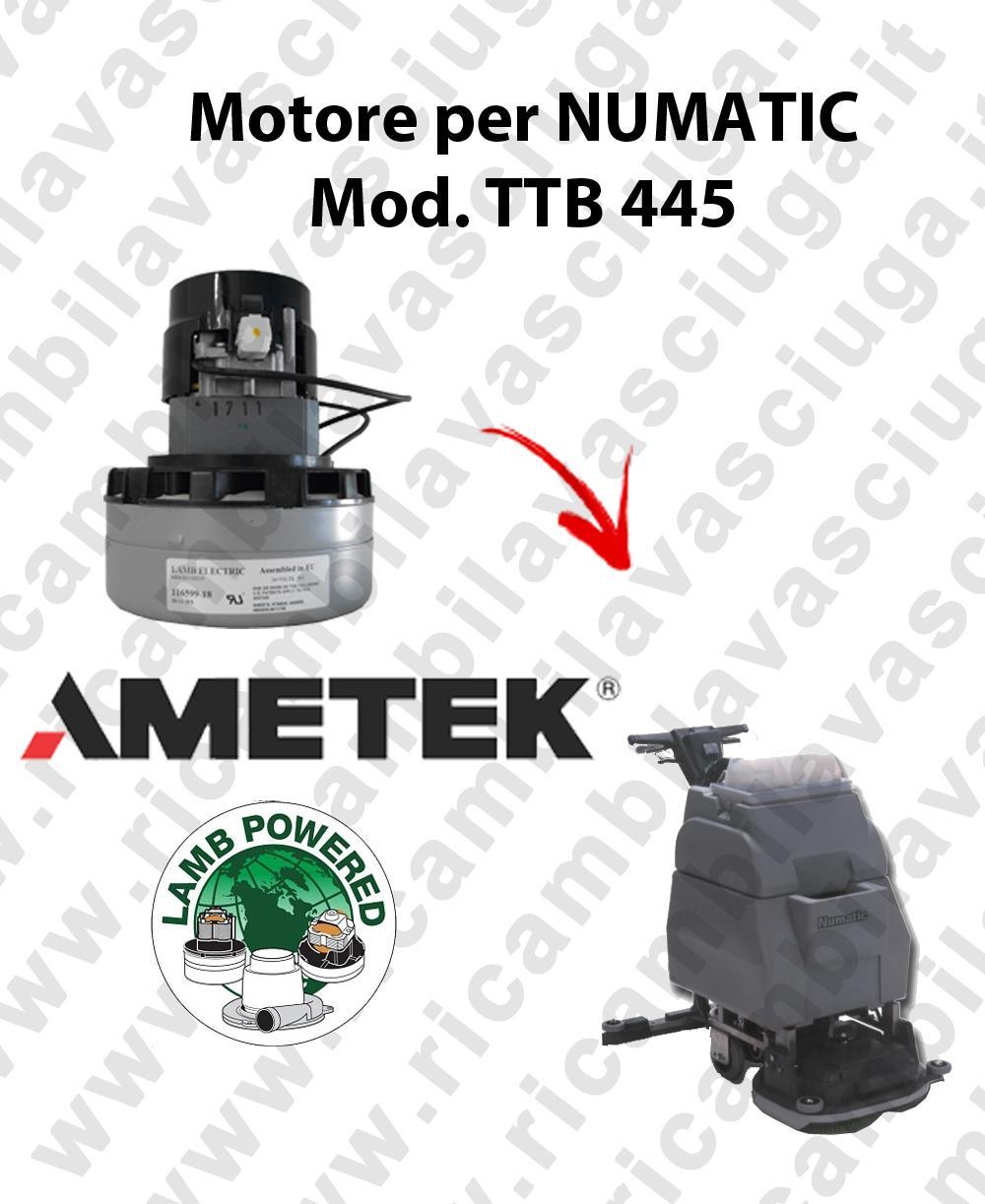 TTB 445 MOTORE aspirazione AMETEK lavapavimenti NUMATIC