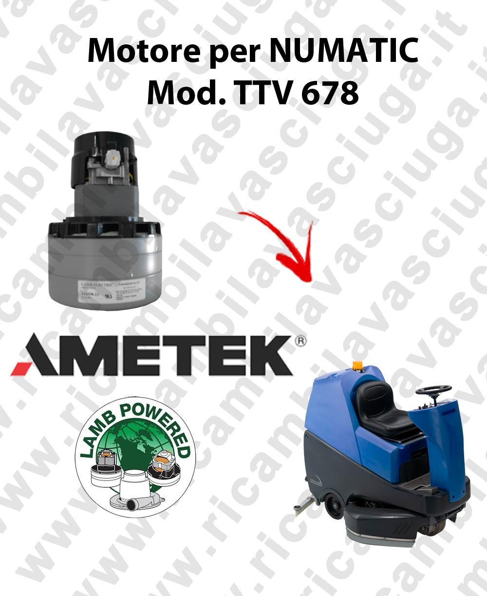 TTV 678 MOTORE aspirazione AMETEK lavapavimenti NUMATIC