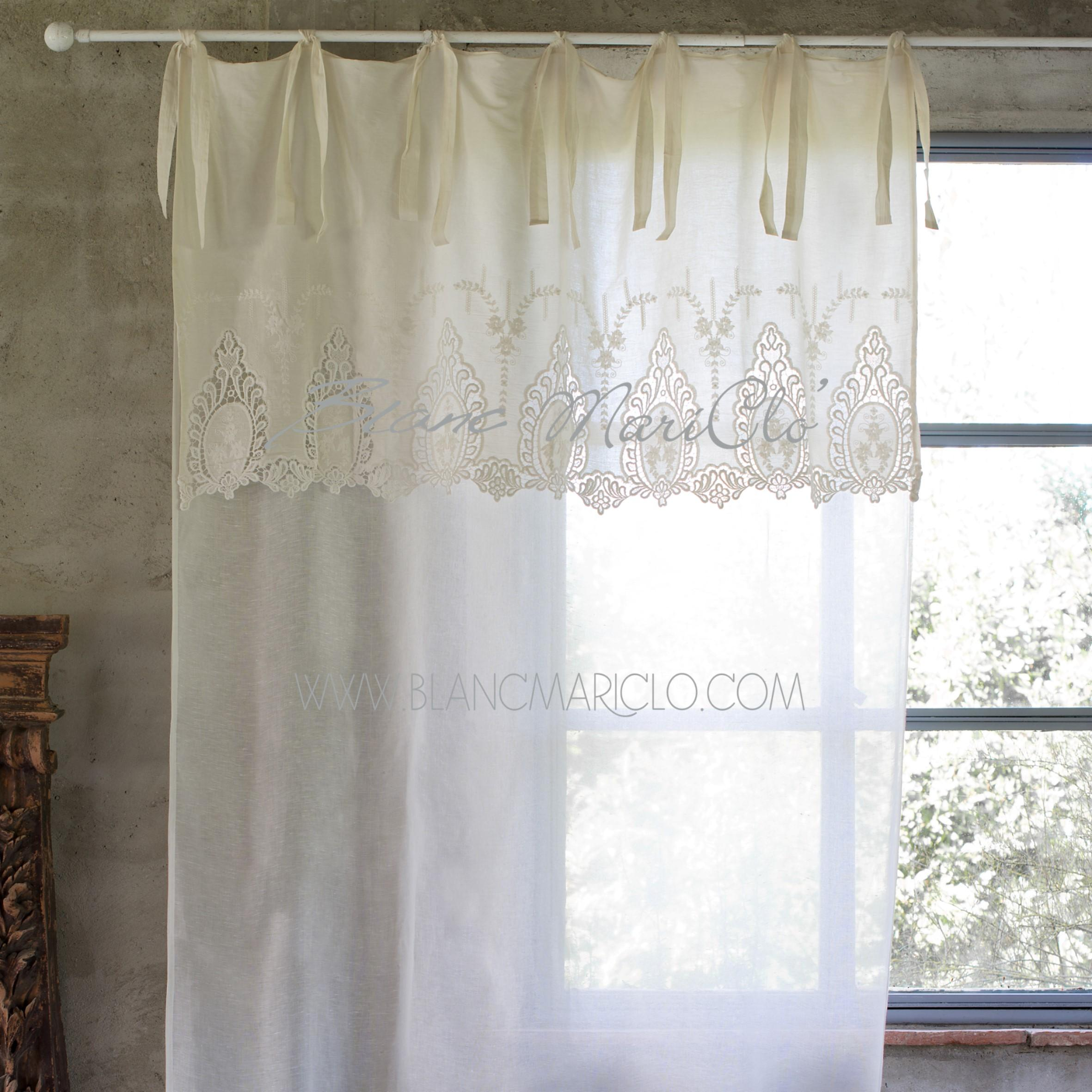 Blanc mariclo follie shop online shabby chic for Tende shabby chic on line